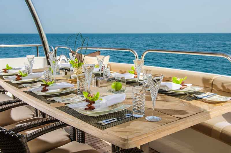 Corporate dinner on yacht Dubai