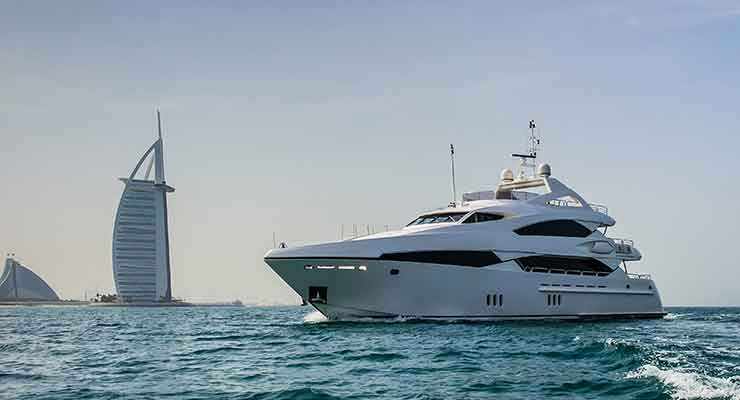 Yacht destinations in Dubai